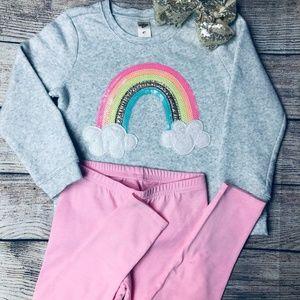 OshKosh glitz rainbow soft sweatshirt + legging